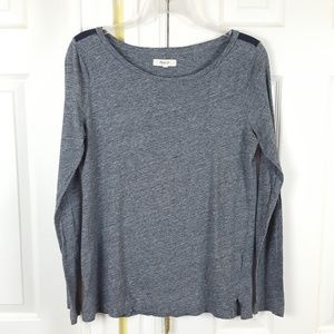 Madewell Gray Longsleeves Top Small